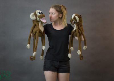 pacynki małpki